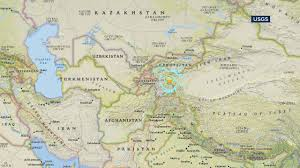 Us Geological Earthquake Map Earthquake With Preliminary Magnitude 6 5 Strikes Western China