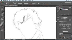 sketching using pencil brushes