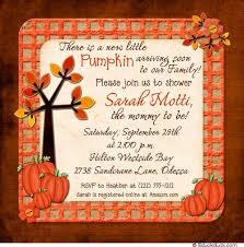 fall pumpkin baby shower invitation new colors