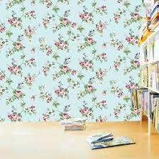 self adhesive wallpaper blue antique sky blue flower pattern self adhesive wallpapers