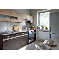 cuisine couleur wengé junona cuisine complète 2m40 avec éclairage led et plan de travail