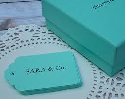 Tiffany And Co Gift Wrapping - 20 custom printed message tiffany blue gift tags tiffany blue