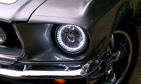 hid lights for classic cars 7 inch white single color halo projector headlight