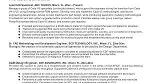 cad engineer resume 35 mechanical engineering technician resume