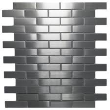 stainless steel mosaic 1x3 subway tile outlet