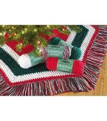 easy crochet pattern crocheted hexagon christmas tree skirt