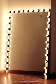 wall ideas lighted vanity wall mirror lighted makeup mirror wall