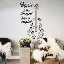compare prices on music wall decals quotes online shopping buy guitar wall decals quotes decal vinyl stickers music art bedroom decor china mainland
