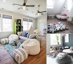 pouf chambre enfant pouf géant tricot et marocain éléments déco salon ou chambre enfant