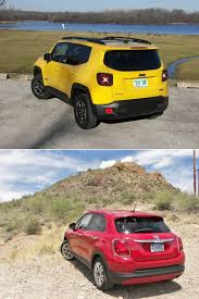 fiat jeep 2016 2016 fiat 500x u0026 2016 jeep renegade 4x4 red tomato yellow