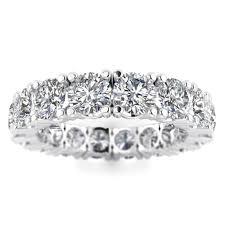 white eternity rings images 5 00ctw heart full eternity round diamond engagement ring shiree jpg