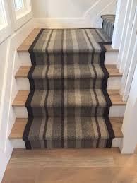 stripe carpet installed as runner on steps top notch