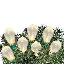 time led edison light set green wire warm white bulb 35