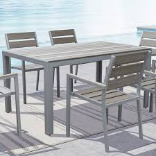 belham living bayport wood patio dining table acacia hayneedle