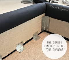bed frame brackets for wood beds diy upholstered wing b on platte river hardware furniture bed