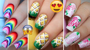 top 10 easy and beautiful nail art tutorial compilation videos