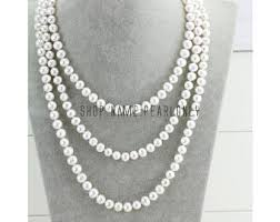 etsy necklace pearl images Long pearl necklace etsy jpg