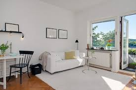 cool small apartment living room design with large windows lovely
