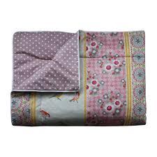 tagesdecke kinderzimmer bink tagesdecke tupfen altrosa und rotkehlchen rosa 140 x 210 bei