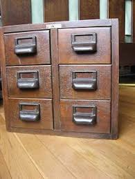 Library File Cabinet Vintage Library 3x5