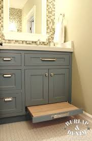 pottery barn styled children s bath with pull out step bathroom