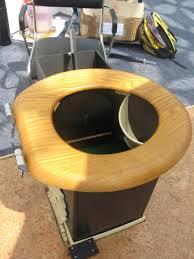 File Urine Diversion Toilet Seat With Black Saw Dust Dispenser