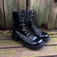 cheap boots for womens size 9 best 90s combat boots products on wanelo