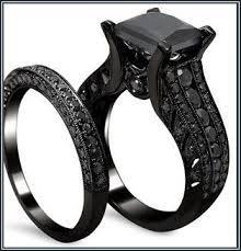black wedding sets 17 best wedding rings images on black wedding bands
