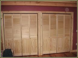 Slatted Closet Doors Louvered Closet Doors Brokenshaker