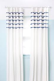 White Curtains With Pom Poms Decorating Pleated Pom Pom Curtains A Beautiful Mess
