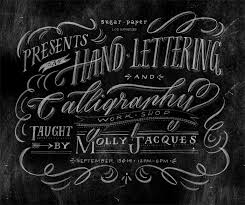 workshop sugar paper molly jacques modern calligraphy