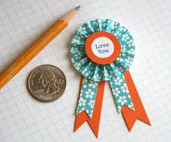 paper ribbons diy paper medallions how about orange