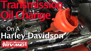 harley davidson transmission fluid change youtube