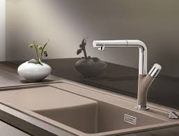 decorating black blanco sinks and kitchen faucet on brown wooden