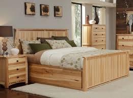 a america solid hickory storage platform bed