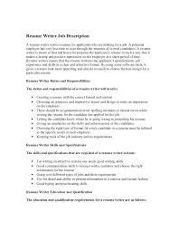 how to write responsibilities in resume description resume