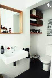 Dwell Bathroom Ideas by Remodelaholic Half Bath Makeover And Floating Shelf Tutorial