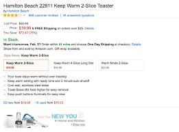 Hamilton Beach Two Slice Toaster Home Hoover Cordless Stick Vac 90 Reg 130 Hamilton Beach 2