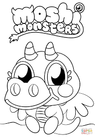 moshi monsters burnie coloring page free printable coloring pages