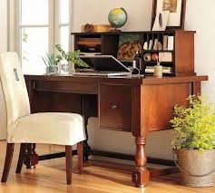 small vintage desk office natural wooden table for home office design with elegant