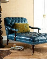 Tufted Leather Chaise Horchow Teal Leather Tufted Chaise Mend