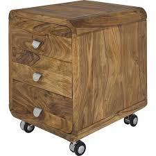 caisson bureau 3 tiroirs caisson de bureau contemporain bois authentico kare