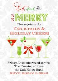 holiday cocktail party invitations here u0027s to cheer holiday