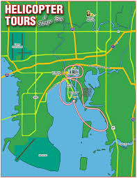 Map Tampa Florida by Old City Helicopters Tampa Bay U0026 Downtown Tour
