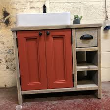 spray painting kitchen cabinets edinburgh edinburgh painted reclaimed timber bathroom vanity unit