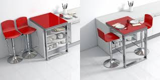 table bar de cuisine la solution aux petites cuisines une table qui s encastre sur