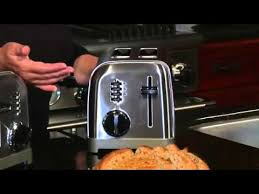 Cuisinart 4 Slice Toaster Review Cuisinart Metal Classic Toasters Cpt 160 U0026 Cpt 180 Youtube