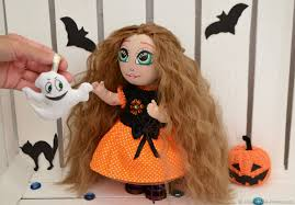 buy halloween doll with a small ghost fabric art doll halloween doll