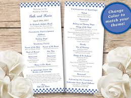 printed wedding programs printed wedding program set of 25 custom two sided wedding