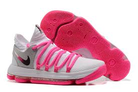 2017 nike kd 10 pink white grey silver for sale nike kd 10 sale